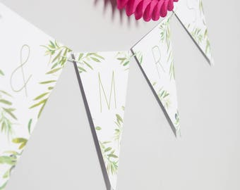 Bespoke Olive Tree Bunting // Party Decoration // Wedding Party Bunting // Card Bunting