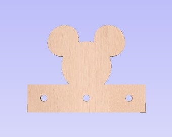 Mickey Head Towel Rack, Nursery, Decor Kids, Bathroom towel holder, Towel Hook, Wall Art,  Towel Rack Shelf  010-214