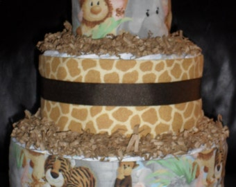 Safari Theme Diapercake