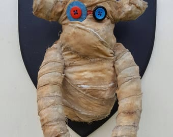 Wall Mounted Mummy Sock Monkey