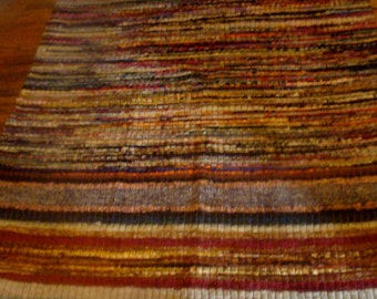 ANTiQUE AMERICAN RaG RuG Runner AMaZING CoLors 47inches By 80inches ART