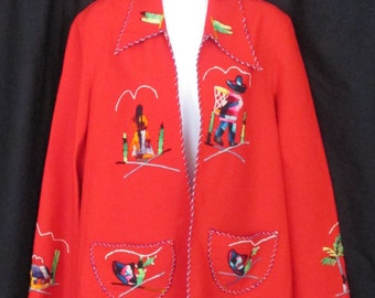 Vintage Embroidered Mexican Blazer