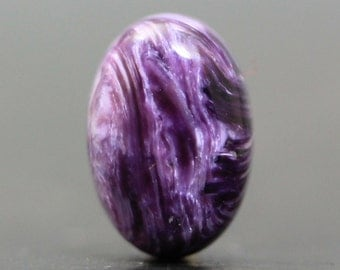 Beautiful Purple Gem Charoite AAA Flat Back Cab for Ring Setting Wire Wrapping Embroidery and Jewelry Designs (CA7270)