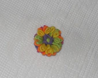 rainbow daisy button holes