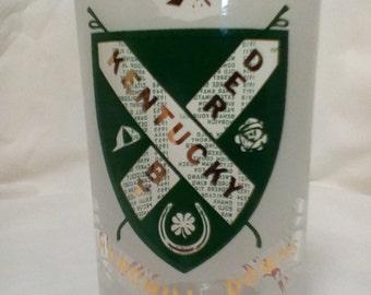 1970 Kentucky Derby glass