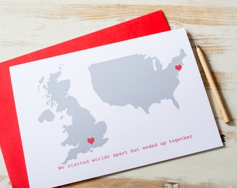 Personalised Double Map Card