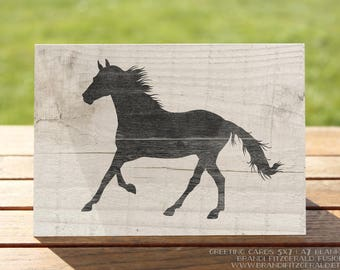 Horse Greeting Card | Farmhouse Equine Greetings | A7 5x7 Folded - Blank Inside - Wholesale Available