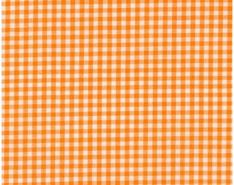 Orange 1/8 Inch Small Gingham from Robert Kaufman's Carolina Gingham Collection - P-5689