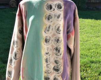 plus size Hand Dyed sweat shirt  x large