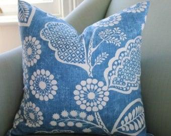 Ralph Lauren Blue Floral (A)  Pillow Cover