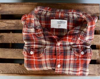 Vintage Orange Flannel