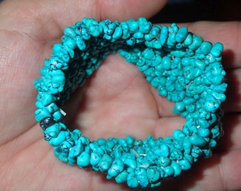 Turquoise nuggets streach Bracelet