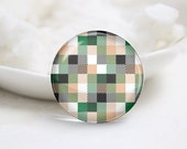 Handmade Round Tiled Photo Glass Cabochons (P3725)