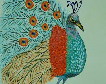 Perturbed Peacock - print