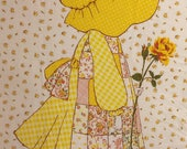 Vintage American Greeting Holly Hobbie Fabric Panel