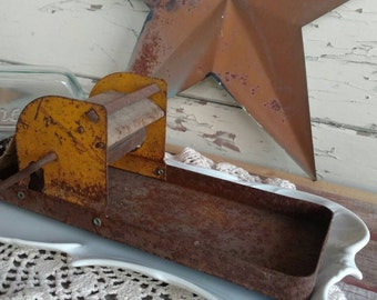 Antique Cigarette Rolling Machine / Press - Vintage Prim Cigarette Press, Hand Crank Cigarette Making Machine, OOAK Smokers Gift + Decor