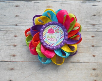 Sweet and Sassy Loopy Flower Hair Bow