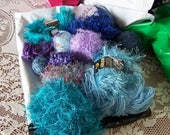 Novelty Yarn Destash for Tassel or Pom Pom Making, DIY Supplies, Various Color Sets Available, 13 ounces per set, for Crafting or Projects