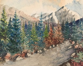 Vintage or antique watercolor signed by the artist
