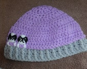 crochet beanie hat with japanese chins