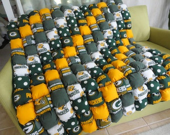 Green Bay Packer Bubble Quilt 42x46 by Karrirose