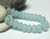 Ice Pearls, Lampwork Spacer Beads, SRA, UK