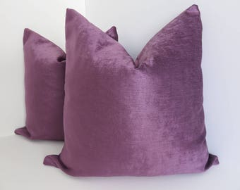Purple Pillow Covers- Solid Pillow Covers- Chenille Solid Purple Pillow Covers- Purple Pillows- Pillow Covers Chenille Pillow Covers