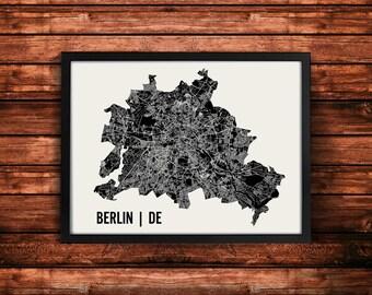 Berlin Map Art Print | Berlin Print | Berlin Art Print | Berlin Poster | Berlin Gift | Wall Art
