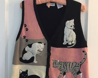 For The Cat Lover In Your Life Sweater Vest