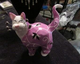 Lacombe Purple Cat Figurine by Annaco Creations Item 24805