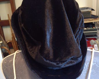 Black Velvet Hat from Germany