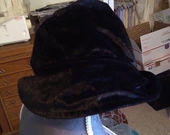 Black Velvet Hat from Germany