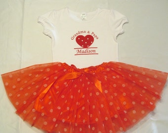 Tutu and T- Shirt set, T-shirt and Tutu set, Personalized T-shirt and Tutu,