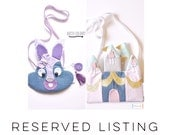 RESERVED LISTING for Chelsey - Bridget the Rabbit Bag and Fairytale Take Along Bag