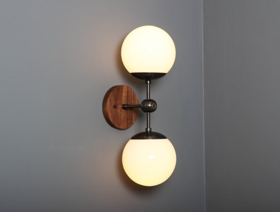 Unique Replacement Globes For Bathroom Light Fixtures: Mid Century Modern Sconce Wall Lamp Wall Sconce Brass Lamp