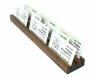 Multiple Business Card Holder, Wooden Card Holder, Wood Business Card Holder, Business Card Stand, Desk Accessory, Photo Holder