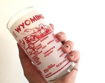 Vintage Souvenir Drinking Glass - Wyoming - Floyd Jones Vintage