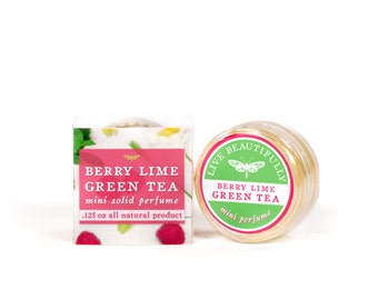 Berry Lime Green Tea Mini Perfume - All Natural - Sparkling Green Tea and Raspberry