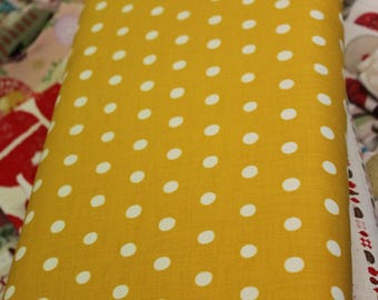 Japanese Fabric Kokka/ Echino - Cream On Mustard