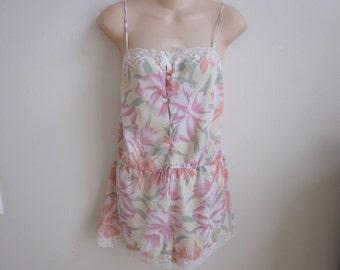 SALE Victoria's Secret teddie camisole cami silky bra lingerie S  M