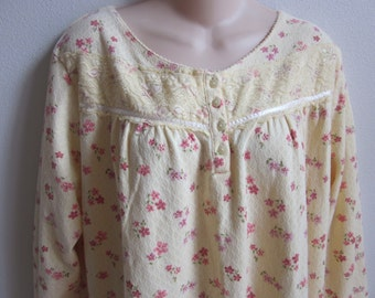 Cozy cotton knit nightgown free bust style plus size 1X