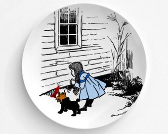 Wizard Of Oz Wicked Witch Melamine Plate, Ruby Red Slippers Melamine Plate, Dorothy, decorative plate, Dinner Plate, Serving Plate