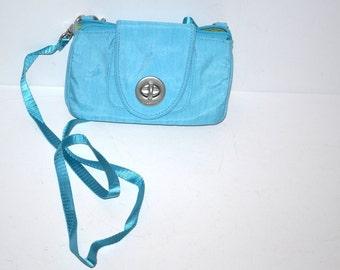 Vintage Baggallini blue turquoise  wristlet wallet crossbody bag Fashion Unisex bag womens mens wallet vintage travel bag
