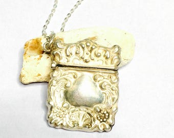 Antique silver purse Pendant/Necklace, stamped .925, Clearance Sale, Item No. S097