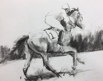 "Original 11"" x 14"" Charcoal Drawing"