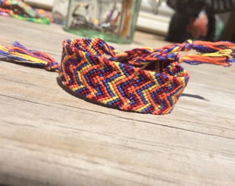 Wide Chevron Friendship Bracelet
