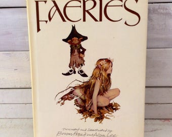 Faeries by Brian Froud and Alan Lee - Abrams Art Book - Vintage hard cover & dust jacket - Fairy Love - collectible - great gift idea