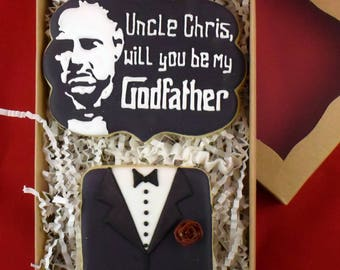 Custom Godfather Sugar Cookies Box Set