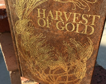 """Vintage Book 70's """"HARVEST OF GOLD"""" by Marian Miller- an Inspirational Hard Cover Book"""