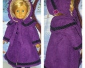 Antebellum Coat and Bonnet fits American Girl Dolls Maria Grace or Cecile